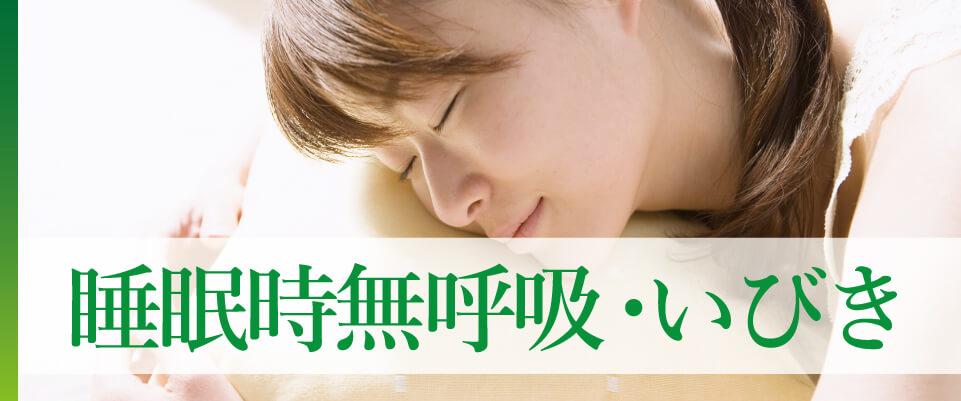 睡眠時無呼吸、いびき